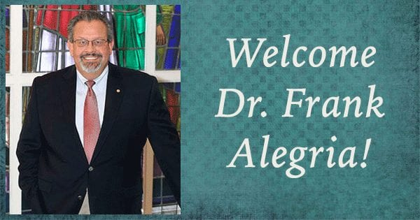 Welcome Dr. Frank Alegria